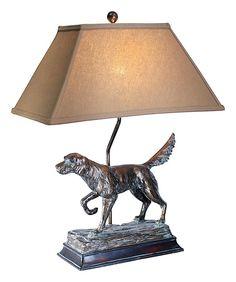 hunting dogs hunt dog table lamps dog tabl pro shop tabl lamp dog lamp. Black Bedroom Furniture Sets. Home Design Ideas