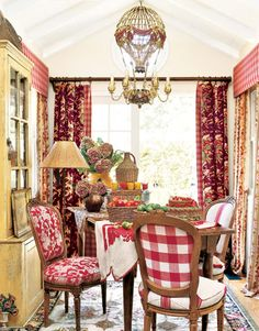 French Country Red Kitchen