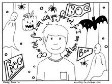 These printable Halloween coloring pages will remind children that God can overcome their fears. We wanted to create new material that featured a biblical rebuke to fear, such as Isaiah 43:5 that would help kids overcome fear. http://ministry-to-children.com/halloween-coloring-pages/