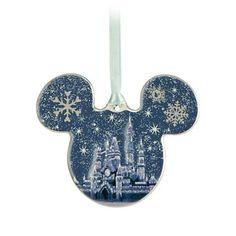 Mickey Icon Ornament - Fantasyland Castle