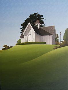 Brian Dahlberg // St Stephens Chapel  Oil on canvas, 101 x 75  #Art #Landscape #Oil #Painting #NewZealand