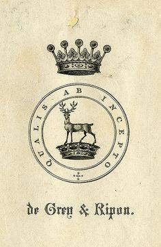 [Bookplate of de Grey & Ripon] by Pratt Libraries, via Flickr