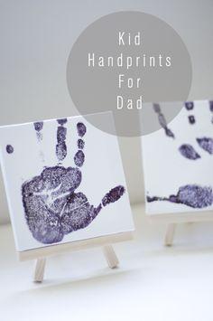 hand prints on canvas