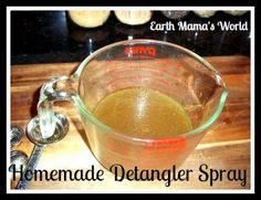 Homemade Herbal Detangler Spray
