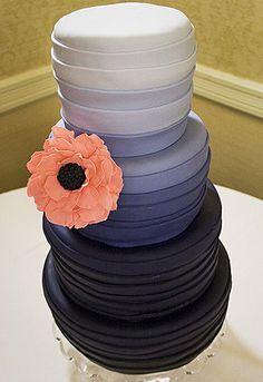 ombre, fondant, peach cake, wedding cake designs, wedding colors