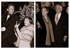 Julie Andrews and Dick VanDyke then and now: Mary Poppin's premiere and Saving Mr. Bank's premiere.