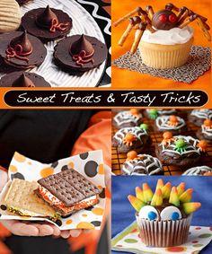 Sweet Treats & Tasty Tricks halloween desserts, halloween parties, halloween sweets, food crafts, sweet treats, fall treats, halloween foods, halloween treats, kid stuff