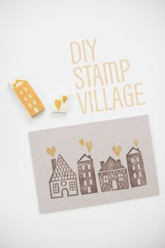 DIY Stamp Village
