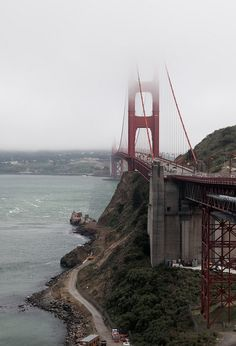 San Francisco, California. The Golden Gate Bridge.