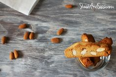 Lemon-scented almond biscotti, grain free, dairy free and can be made vegan