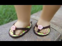 Adorable! By a young AG fan.... Video Tutorial DIY How to Make a No-Sew Flip Flops for American Girl Dolls *Note I could only print the pattern, could not save the file, but printing it allows you to make these adorable shoes.