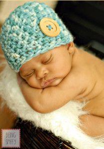 Button Baby Beanie