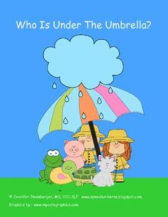 FREEBIE: Who Is Under The Umbrella?  This activity targets the preposition 'under.'