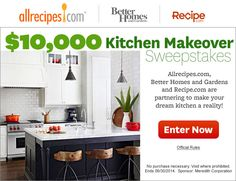 Kitchen Makeover Sweepstakes   (Ends June 30, 2014.)
