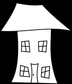 Here are Three Crooked House Digital Stamps (Perfect for Housewarming Cards): Three Crooked House Digital Stamps - 1