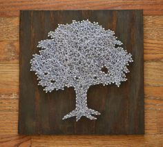 Toomer's Corner Tree String Art - Tree Nail Art - Auburn University Toomer's Tree. $55.00, via Etsy.