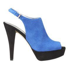 Nine West blue peep toe heels #shoes