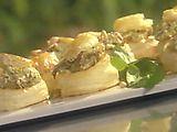 """Deep Dish"" Pizza Bites with Mascarpone, Crispy Ham and Pesto Recipe"