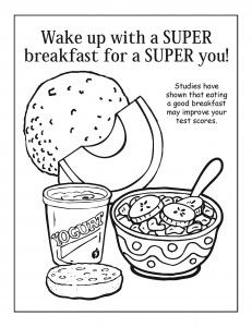 Gallery For > Healthy Breakfast Coloring Page