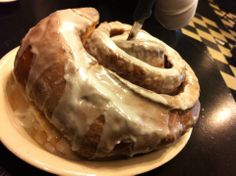 Grab some friends and bring them to Lulu's Bakery & Cafe and share a 3 lb cinnamon roll while in town for #AALL14
