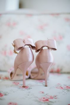 nothing says feminine like a pretty pair of pink bow heels  Photography by hazelnutphotography.com, Shoes by http://www.badgleymischka.com/