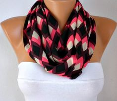 Chevron  Infinity Scarf Shawl Circle Scarf  Loop  Scarf by anils, $19.50