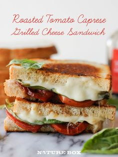 Grilled Cheese with balsamic roasted tomatoes - this is sure to be a crowd-pleaser or a quick and easy dinner for a busy weeknight meal! tomato capres, capres grill, roast tomato, grilled cheese sandwiches, capres sandwich, balsam roast, tomatoes, grilled cheeses, grill chees