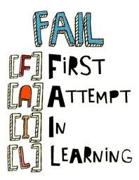 """Failure"" is the first step to success!"