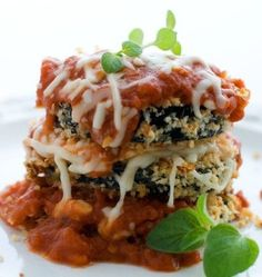 Baked Breaded Eggplant with Marinara - These crisp, cheesy eggplant slices are a lighter take on the more traditional fried eggplant Parmesan.