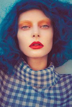 Blue Hues! - hair & make up