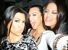 kourtney, kim &  khloe kardashian.
