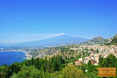 Great view of Mount Etna (Volcano) Taormina Sicily, Italy