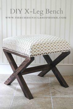 Tutorial upholstered bench