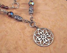 Beautiful Mandala Lotus necklace on Etsy