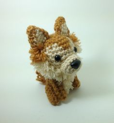 Pomeranian Pet Lover Gift Amigurumi Stuffed Animal Crochet Puppy Plush Doll  / Made to Order