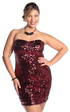 Curvy Girl Fashion sequin dress