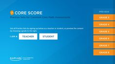 Core Score // is a free educational app that provides students with practice math questions created for the Common Core State Standards, while allowing teachers the ability to monitor student performance and usage with ease.
