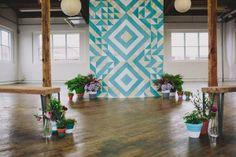 Geometric Wedding Backdrop Inspiration
