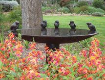 Beautiful sculptured bird bath