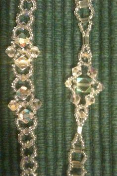 Bead weaving crystal bracelets