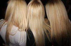 Blonde Blonde Blonde fashion, dye, hair colors, straight hair, long hairstyles, root, blondes, color pallets, long hair styles