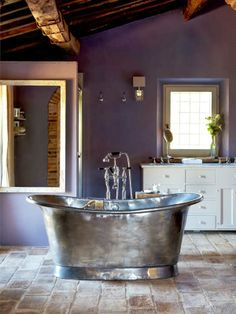 baths, wall colors, tubs, purple, dream