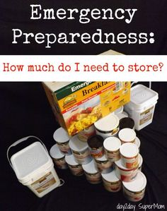 Emergency Preparedness & Food Storage: What do I need? ~ good info