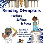 The Reading Olympians teaches 100 Greek roots (prefixes and suffixes) and contains over 300 pages of resources!  Download today--start tomorrow!!!  Roots are in Common Core K-8!!