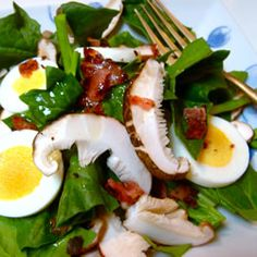 """Spinach and Mushroom Salad 
