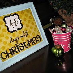 Framed Christmas Countdown Printable {Christmas Countdown}