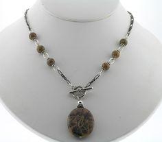 Toggle Necklace Picture Jasper Pendant