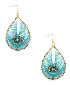 Threaded Rhinestone Earrings
