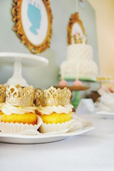Project Nursery - Crown Cupcake Toppers