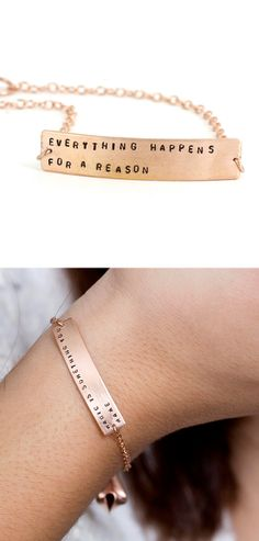 Customized fortune cookie bracelet